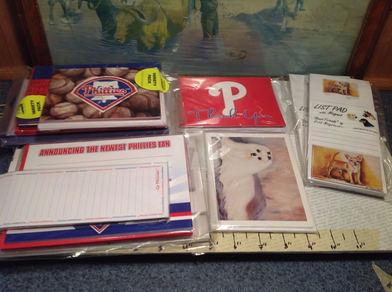 Assorted Designs 10pc Lot of Phillies and Dog Related Notepads