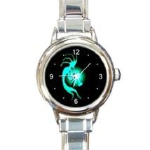Ladies Round Italian Charm Bracelet Watch Kokopelli Spirit Lucky Gift 30... - $11.99