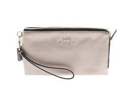 Coach Pebbled Metallic Leather Double Zip Wallet Clutch F53561 - €195,69 EUR