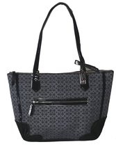 Coach Poppy Metallic Signature C Tote Bag Charcoal 26414 - $292.05