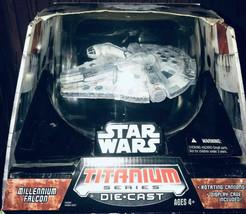 "Star Wars MILLENNIUM FALCON Titanium Series LARGE 7"" Die Cast ULTRA 2006... - $46.39"