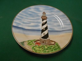 "Beautiful ROYAL NORFOLK ""Lighthouse"" Bread-Salad-Dessert  Plate 7.5"" diameter - $4.54"