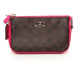 Coach Signature Pvc Large Wristlet 19(cranberry) - $247.50