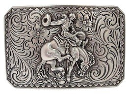 Bronco Rider Western Cowboy Cowgirl Rodeo Trophy Buckle - New!! - $7.43