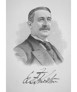 EDWIN KNOWLTON Massachusetts Hat Manufacture Company - 1895 Portrait Print - $12.60