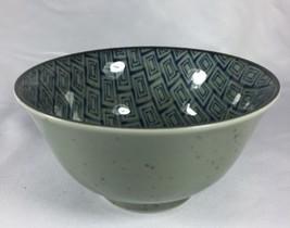 Japanese Geometric Brick Glazed Round Noodle So... - $23.36