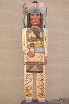 5' CIGAR STORE INDIAN 5 ft Chief White Buffalo Blue Headdress by Frank G... - $1,325.00
