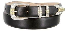 Manila Genuine Italian Leather Designer Dress Golf Belt(Smooth BLK,50) - $27.71