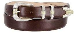 Manila Genuine Italian Leather Designer Dress Golf Belt(Smooth BRN,50) - $27.71