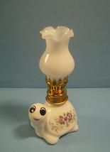 "Miniature ceramic oil lamp ""turtle"" working condition brand new cute #23 c - $9.30"