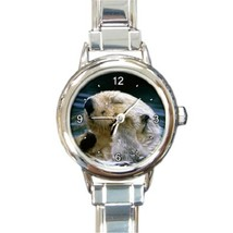 Ladies Round Italian Charm Bracelet Watch Sea Otter Gift model 14599527 - $11.99