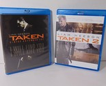 Taken and Taken 2 Blu-Ray Lot of 2 Movies Liam Neeson Action Flick