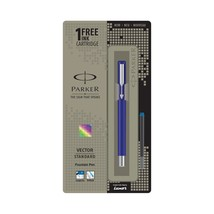 Parker Vector Standard Dark Blue CT Fountain pen Fine nib - $11.39
