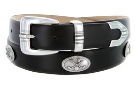 Golf Club - Men's Italian Calfskin Designer Dress Belt with Golf Conchos (44 ... - $39.55