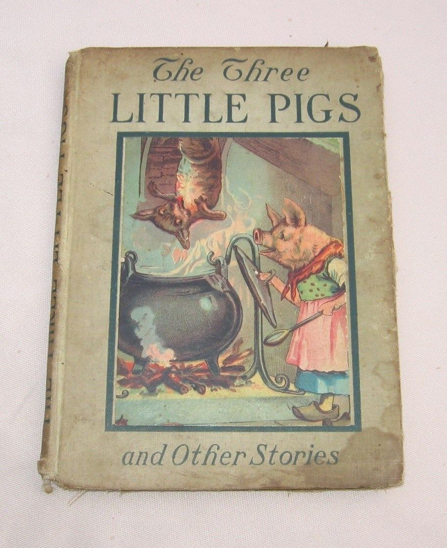 Primary image for 3 Three Little Pigs and Other Stories 1917 Antique Book