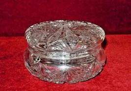 Crystal Hobstar  Dresser Jar  Crosshatching Lid - $45.50