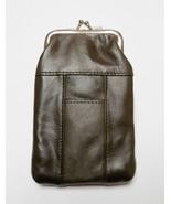 New Genuine Leather Soft Cigarette Case - DARK BROWN - $18.00