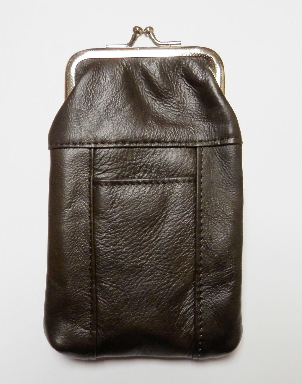 New Genuine Leather Soft Cigarette Case - DARK BROWN