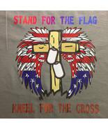 Custom T-Shirt: Stand for the Flag, Kneel for the Cross - $15.00+
