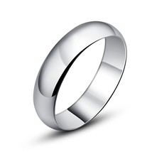 5mm Sterling Silver Ring Wedding Band Comfort Fit; Glossy Finish; Sizes ... - $28.95