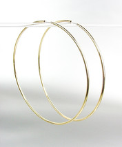 """CHIC Lightweight Gold Continuous INFINITY 4"""" Diameter Hoop Earrings 2451890 - $15.99"""