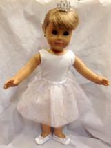 """Doll Clothes 18"""" DANCE Set 4 pc White Sparkle B... - $18.49"""