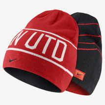 NIKE MANCHESTER UNITED REVERSIBLE KNIT BEANIE ONE SIZE Black/Red. - $32.48