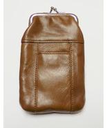 New Genuine Leather Soft Cigarette Case - LIGHT BROWN - $18.00