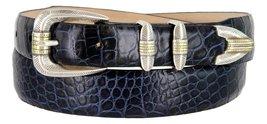 Manila Genuine Italian Leather Designer Dress Golf Belt(Alligator NVY,32) - $27.71