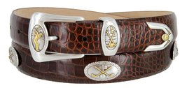Bayside- Italian Calfskin Leather Designer Dress and Golf Belt For Men (ABRN,46) - $39.55
