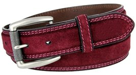 "Fullerton Full Grain Suede Casual Jeans Leather Belt 1-3/8""=35mm 351000-P4139... - $26.68"