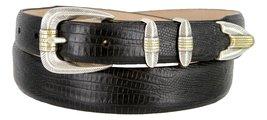Manila Genuine Italian Leather Designer Dress Golf Belt(Lizard BLK,40) - $27.71