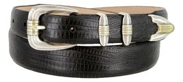 Manila Genuine Italian Leather Designer Dress Golf Belt(Lizard BLK,54) - $27.71