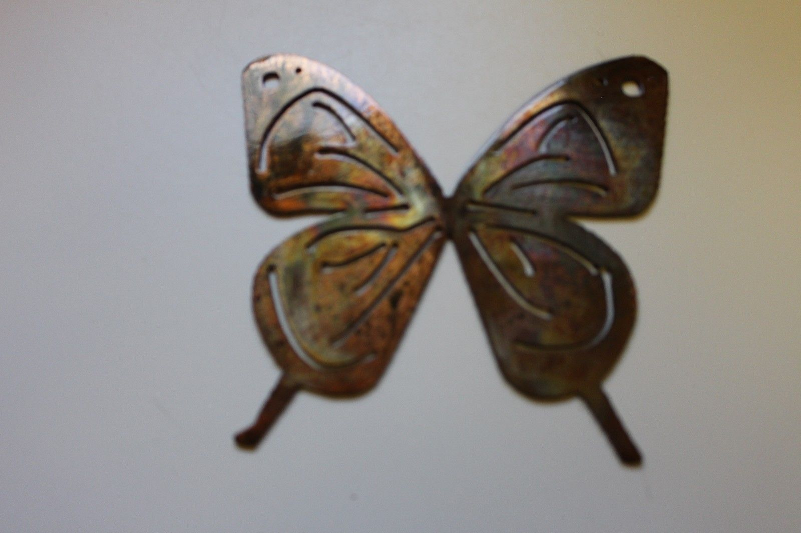 small butterfly 5 metal wall art decor copper bronze wall sculptures. Black Bedroom Furniture Sets. Home Design Ideas