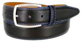 MensLejon Belt- Novara Genuine Grain Steerhide Leather Dress Belt In Black, ... - $79.20