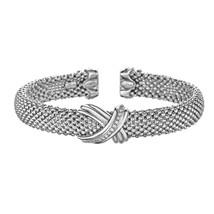 "Phillip Gavriel Sterling Silver ""X"" Design Cuff Bracelet - £372.20 GBP"