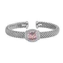 Phillip Gavriel Sterling Silver Rose Quartz Cuff Bracelet - $549.99