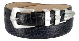 "Art Deco Italian Calfskin Leather Men's Designer Dress Golf Belt 1-1/8"" to 1""... - $29.20"