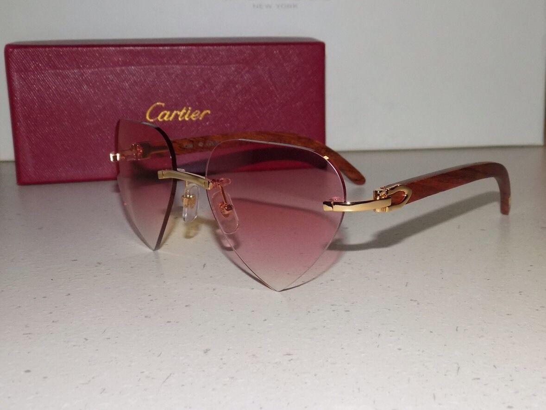 79f091d0e0 Cartier Bubynga Wood Custom Pink Heart Lens and 10 similar items