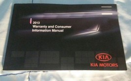 2013 Kia Factory Warranty & Consumer Information Manual #UM 130 PS 001 - $7.24