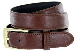 6166 Solid Brass Buckle Pebble Grain Men's Dress Belts 30mm Black Brown (42, ... - $10.83