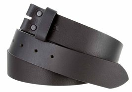 "5135 Made in USA One Piece Full Leather Belt Strap 1-3/8"" or 35mm wide (30, B... - $18.76"