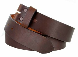 """5135 Made in USA One Piece Full Leather Belt Strap 1-3/8"""" or 35mm wide(Brown,32) - $18.76"""