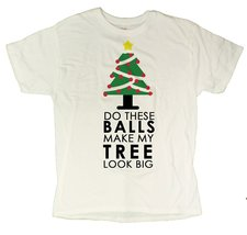 Men's Do These Balls Make My Tree Look Big Funny Christmas T-Shirt (Larg... - $12.44