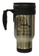 What's Up My Witches Funny 12 oz Hot Cold Travel Mug - $17.24