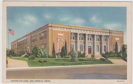 Junior College San Angelo Texas TX Linen 1933 Postcard - $8.95