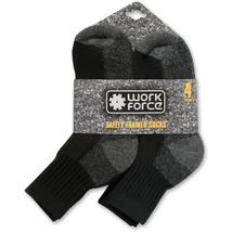 4 Paare Herren Arbeitssocken Sicherheit Schwarz Sneaker Socken WFH0091 39-45 - $12.10