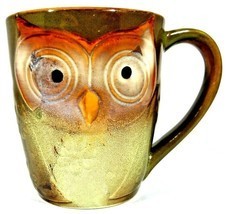 "Gibson Home Owl City Coffee Mug Embossed Owl Shape Mug Elite Couture 4 1/2"" (B) - $10.40"