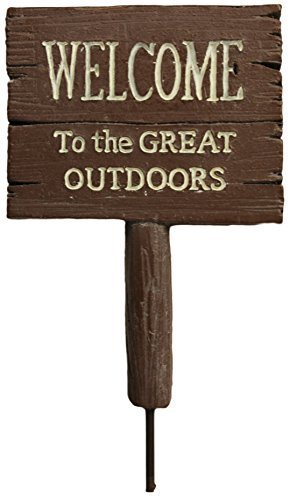 """Ganz Collectible Fairy Garden 3.5"""" Great Outdoors Signs (Welcome) - $2.88"""