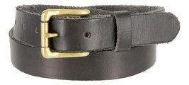 """Women's Vintage Style Full Grain Leather 1-1/8"""" Wide Belt (Black, 44) - $22.72"""